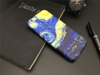 for iPhone 7 7Plus Van Gogh starry sky matte Fundas Leather ...