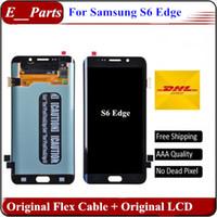 Pour Samsung Galaxy S6 bord LCD Original LCD grade AAA G925 G925F G925I G925P Lcd numériseur Displaiy Screen Assembly