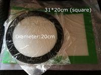 Coussinets de cire de silicone tapis d'herbes sèches grand 20cm rond ou 31 * 20cm plaques de dabber de tapis carré jarres outil de dab pour les contenants d'huile de dabber FDA