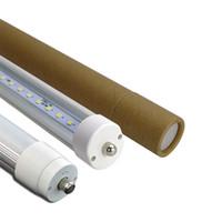 Светодиодные фары пробки 8ft T8 FA8 Single Pin LED трубки огни 45W 4800Lm лампы SMD 2835 2400мм 2.4m 8feet Светодиодные люминесцентные лампы Лампы 85-265
