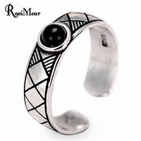 RAVIMOUR Vintage Rings For Women Men Jewelry Antique Silver ...