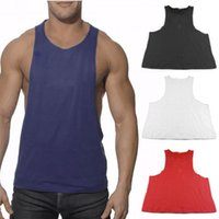 2017 New Brand Singlet Cotton Sleeveless Muscle Vest Bodybui...