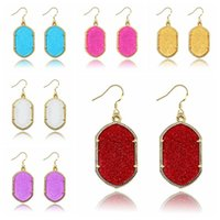 2017 HOT Gometric Kendra Earrings Scott Style Acrylic Chande...