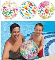 PVC Beach Ball Toys Round Star Fish Ball gonflable Enfants adultes Sand Play Water Fun Jouets étoiles poisson Beach Ball 51cm KKA1899