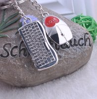 Keyboard & Mouse Metal Alloy Keychain Couples Key Chain Pend...