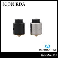 Authentique VANYVApe ICON RDA 1.5ml e-Juice Capacité avec Popular Delrin Wide Bore Drip Tip Innovative Build Deck Tank