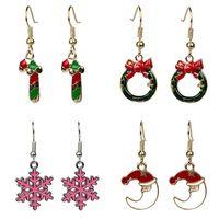 Christmas Gift for Women Fashion Snowman Animal Earrings Cut...