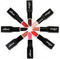Popfeel Lipstick Humedad Sexy Increíble Larga duración Maquillaje mate Cosméticos Labio Glossos lápiz labial Lápiz Herramientas 8 colores