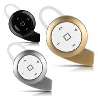 Stocks américains! Nouveau mini sans fil stéréo Bluetooth stéréo casque écouteurs casque écouteur pour iPhone Samsung 3 couleurs or noir argent