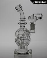Oeuf de verre de 8 po de hauteur FAB Bongs Oeufs Fab Oil Rigs pipes d'eau de fumée Oeuf de verre FAB Recycler Bong avec Matrix Perc Joint Taille 14,4 mm FC-Egg