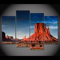 4 шт Холст Живопись Скоттсдейл пустыни HD печатных картин холст Печать Настенные рисунки Home Decor Картинки для гостиной XA195D