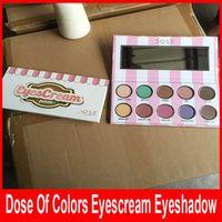 Доза цветов тени для век eyescream палитры новый 10 цветов водонепроницаемый высокое качество бесплатная доставка макияж по DHL