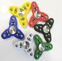 6 colores de ADN Spin Hand Spinner Toy buena opción para la ansiedad de descompresión 9 bolas de juguete dedo para matar el tiempo CCA5952 200pcs