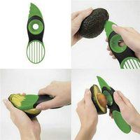 Hot Good Grips 3-en-1 trancheur d'avocat vert plastique outil de cuisine pratique divise les tranches avec couteau Pitter éplucheur et scoop Livraison gratuite