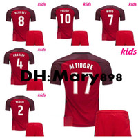 17 18 maillots de football Amérique Amérique 2017 2018 États-Unis Away DEMPSEY BRADLEY ALTIDORE chemises pour enfants chemises de football