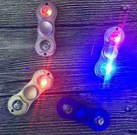 LED Light Flash Fidget Toys Spinner à main Alliage d'aluminium 5 couleurs Fidget Spinner Gyro Toys Adultes Enfants Jouets éducatifs DHL Gratuit