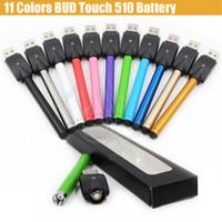 12 Couleurs CE3 Bud Touch O stylo Batterie avec mini USB Chargeur Blister 280mAh CBD vape Cartouches Waxy 510 cire Tank vaporisateur vapeur e cigs DHL
