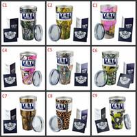 Камуфляж Camo Yeti Чашки 30 OZ 9 различных цветов Yeti Рамблер Тумблерные кофе Кружки Metallic Yeti Чашки Cooler Вакуумные Кружки DHL быстрая перевозка груза