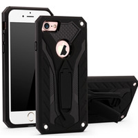 Pour iPhone 5 6s 7 plus Armor Kickstand Stand Holder Coques PC + TPU Hybrid Hard Case couverture pour iphone 5 SE 6 7 plus