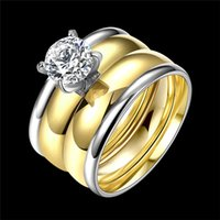 New Fashion Punk Rose Gold Silver Plated Crystal Anillos Muj...
