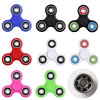 EDC Hand Spinner Puntas de los dedos Dedos Fidget Spinner Spiral Hand Spinners Fidgets Juguetes Con bola de acero inoxidable