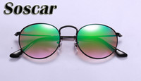 Round Metal Sunglasses Soscar Authentic Sunglasses 2017 New ...