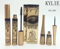 Kylie jenner cosmétiques Maquillage 3D Fibre EyeLashes Extension Mascara + Gel Eyeliner 2 en 1 Ensembles étanche DHL livraison gratuite