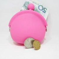 DHL free 100pcs lot candy color mini coin bag cute coin purs...