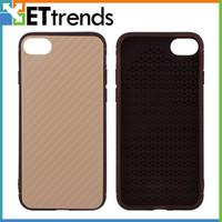 Nouvelle arrivée en fibre de carbone Woven Pattern Case pour iPhone 7/7 plus Phone Protector Case Remplacement DHL Livraison gratuite