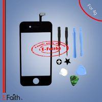 Pour iPhone 4 noir écran tactile numériseur remplacement avec kit outils Livraison gratuite