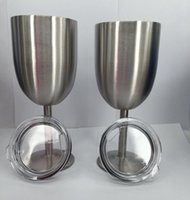 10oz Stainless Steel Wine Glass Cups Double Wall Insulated M...