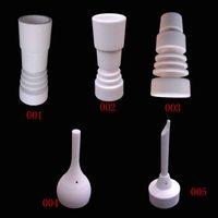 14mm 18mm Domeless Céramique Nail Tool Set Céramique Carb Cap Mâle Femelle Joint Nails Pour Bateaux Pétroliers Bongs De Verre Water Pipe Smoking Accessoires