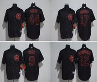 black with red number chicago cubs baseball jerseys 17 Bryan...