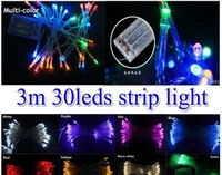 New 3m 30 led strip Battery operated LED garland string ligh...