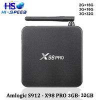 Android 6. 0 tv box X98pro Amlogic S912 smart box Octa- Core 2...