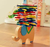 Baby Toys Educational Elephant Camel Balancing Blocks Wooden...