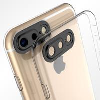 Мягкий прозрачный Случаи iPhone 7 4.7 Plus 5.5 дюйма 6S 6Plus камеры Protector Ультра тонкий телефон крышки Корпуса советники ВОЗ