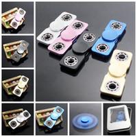 Ultra fino Fidget Spinner Fidget Hand Spinner de aleación de aluminio dedo dedos en espiral HandSpinner 5 colores OOA1544