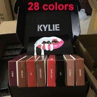 Le plus récent maquillage 28 couleurs KYLIE JENNER kits mat kylie liner Kylie Lipliner crayon Velvetine Liquid Matte Rouge à lèvres Gloss Velours