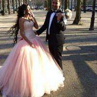 Роскошный Бисероплетение бальное платье Quinceanera платья Потрясающие лиф Милая Розовый Романтический выпускного вечера платья плюс размер платья партии