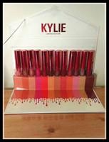 Kylie 12 pcs set Lipstick édition limitée Rouge à lèvres 12 couleurs set Matte Liquid Lipgloss Lips Makeup Free Shipping DHL