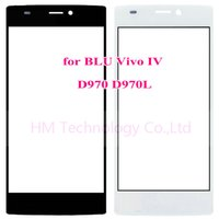 """Wholesale- 5. 0"""" Black White Outer Glass Screen for BLU ..."""
