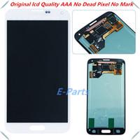 Pour Samsung Galaxy S5 qualité AAA i9600 G900F G900H G900M G9001 G900R Affichage LCD Écran tactile Digitizer assemblage avec LoGo avec bouton Accueil