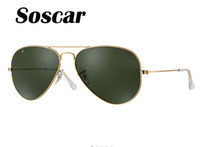 Soscar Authentic Polarized Sunglass Gold Frame 001 58 58- 14 ...