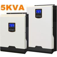 Круто ! Солнечный инвертор 5Kva 4000W Off инвертор сетки 48V до 220V 50A Инверторы PWM Чисто инвертор синусоидальной волны гибридный 60A Заряжатель AC