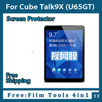 Wholesale- 3 pieces lot HD Screen protector for Cube Talk9X ...
