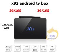 X92 android tv box 3G 32G TV Box Amlogic S912 Android 6. 0 Oc...