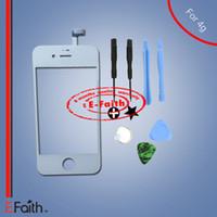 Pour iPhone 4 blanc écran tactile numériseur de remplacement avec outils kit outils Livraison gratuite