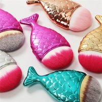 Mermaid oval brushes Mermaid Foundation Brush Gold Mermaid M...