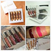 20 sistemas en la acción KOKO KOLLECTION oro del cumpleaños maquillaje limitado 4pcs / set KYLIE Líquido lápiz labial mate Kollection por los cosméticos de Kylie